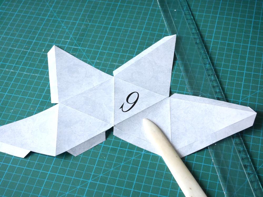 boîte origami calendrier de l'avent
