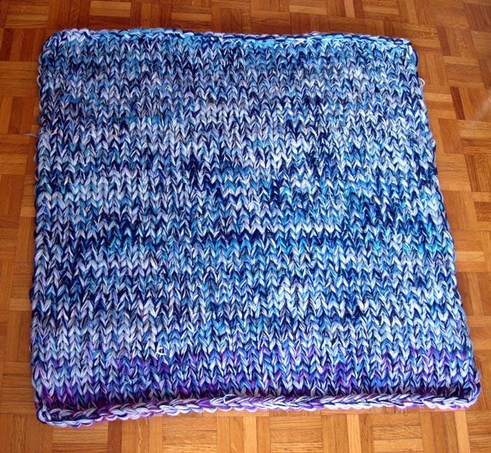 tapis tricoté