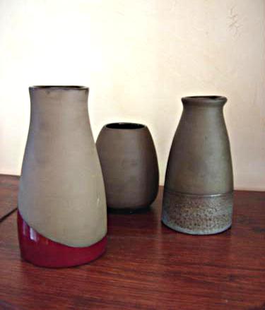 vases en terre noire
