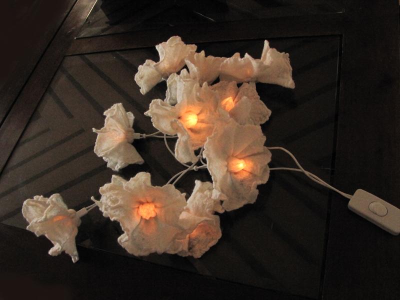 guirlande fleurs feutre