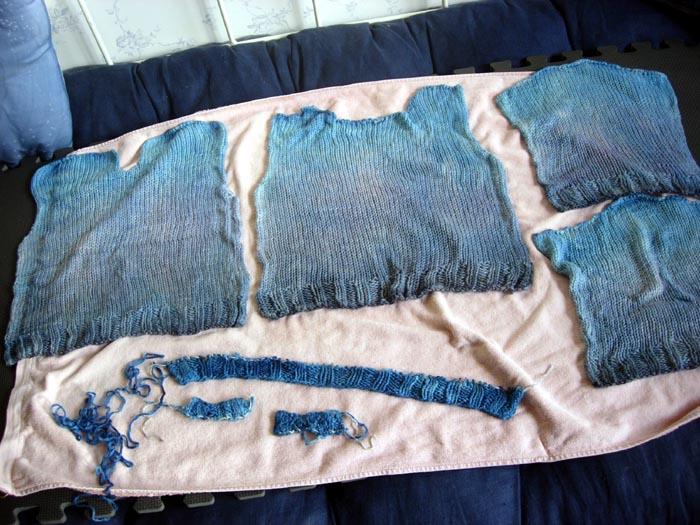 pull teint à la main