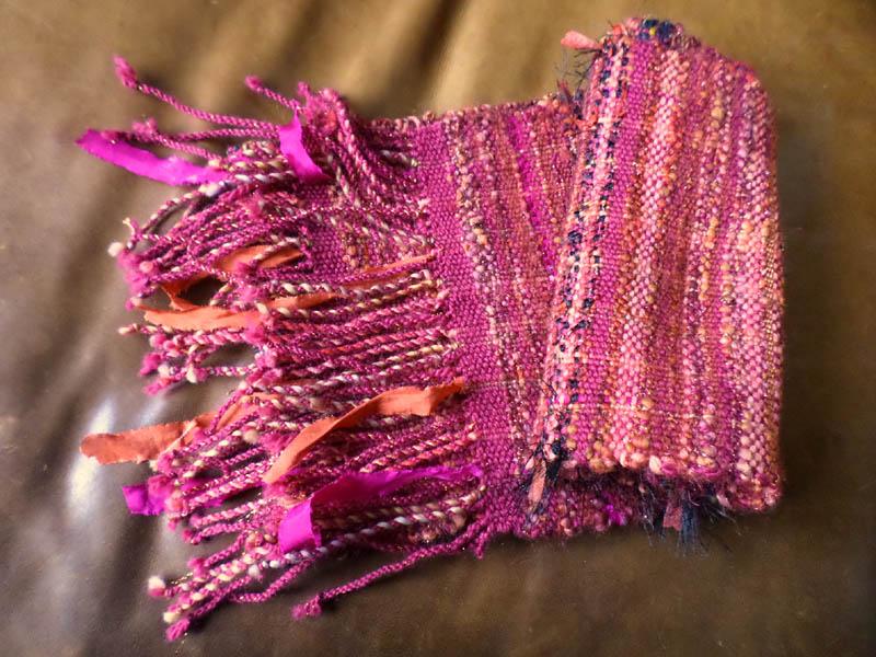 écharpe tissée main