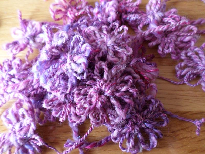 fleur en laine