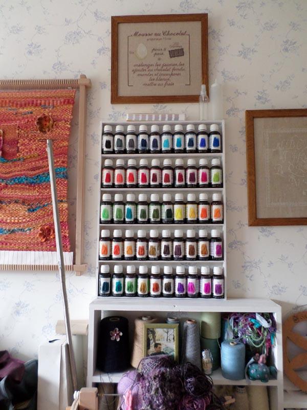 étagère teintures dupont