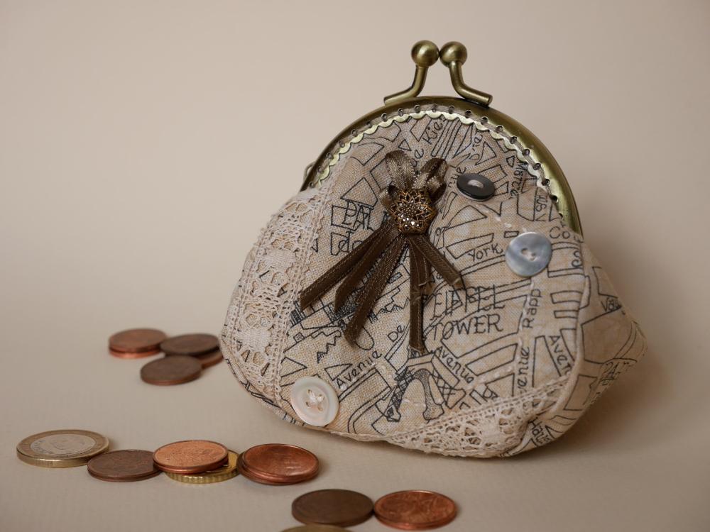 porte-monnaie cousu main