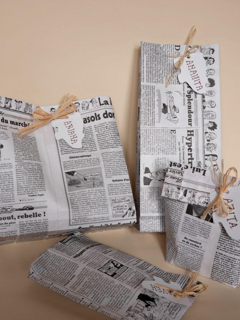 sacs en papier journal