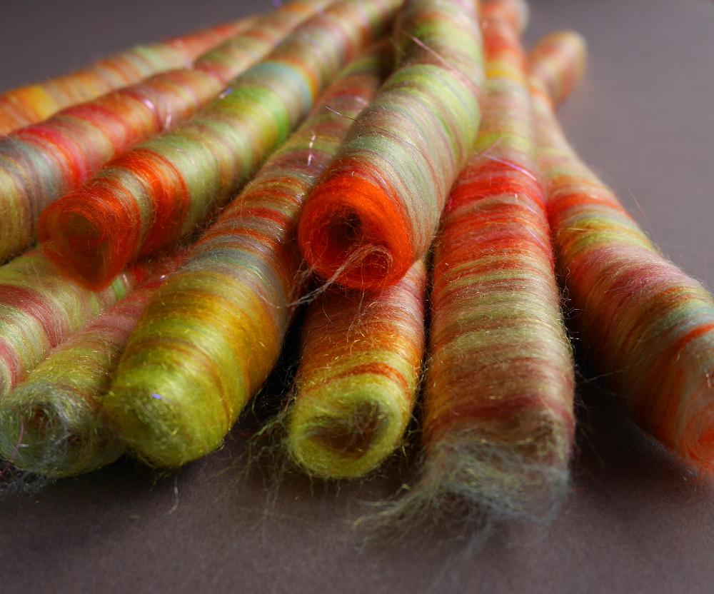 rolags rouleaux de fibres à filer