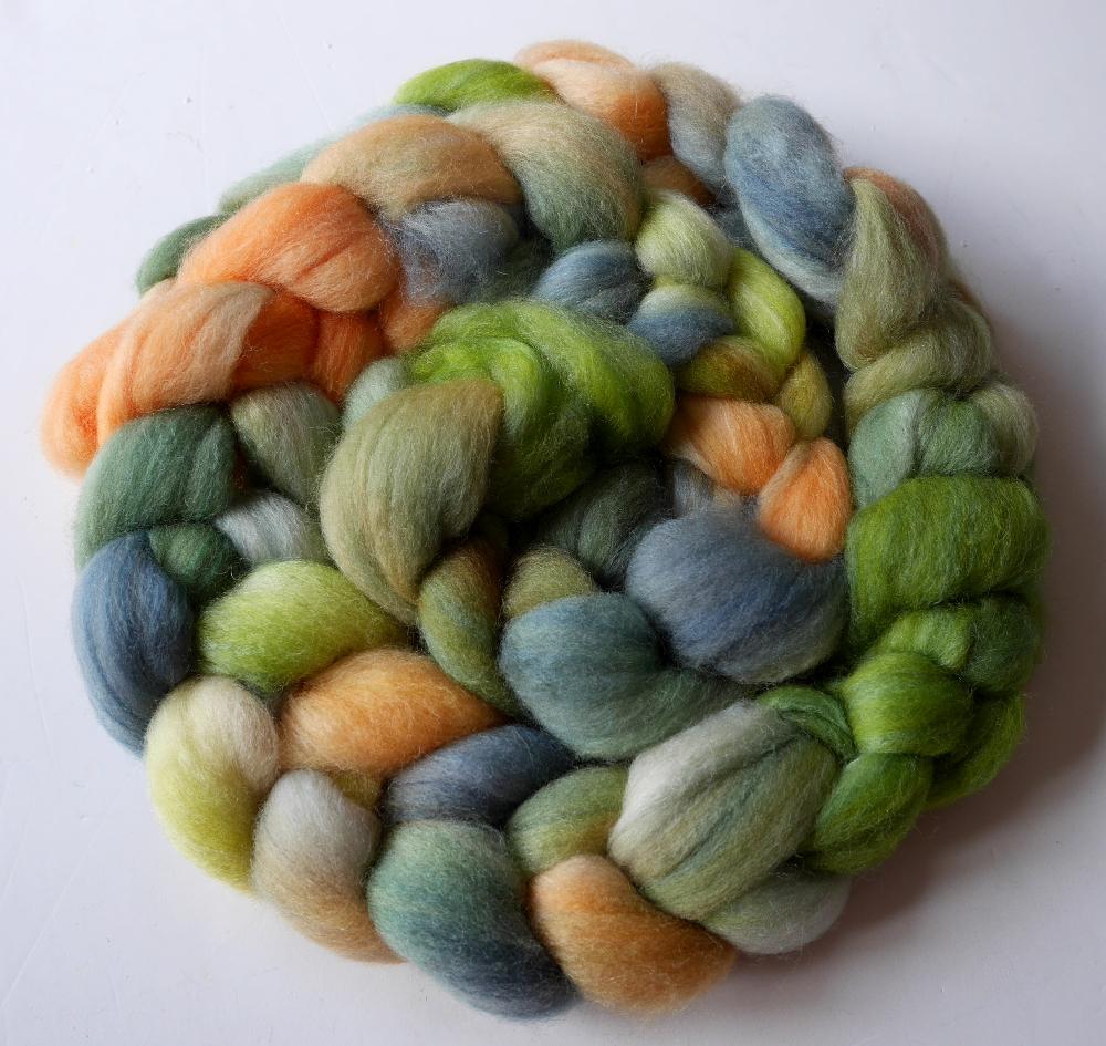 mèche de laine teinte à la main