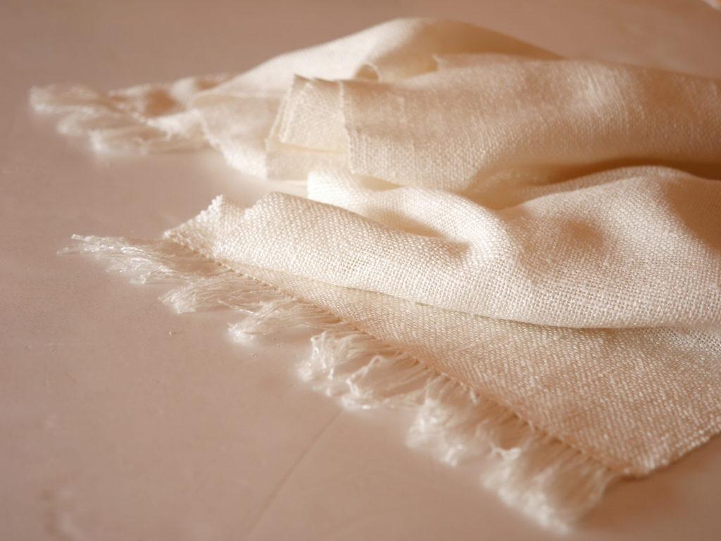 écharpe soie tissée main