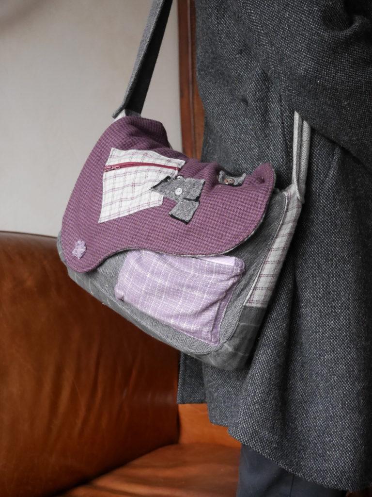 sac patchwork en flanelle