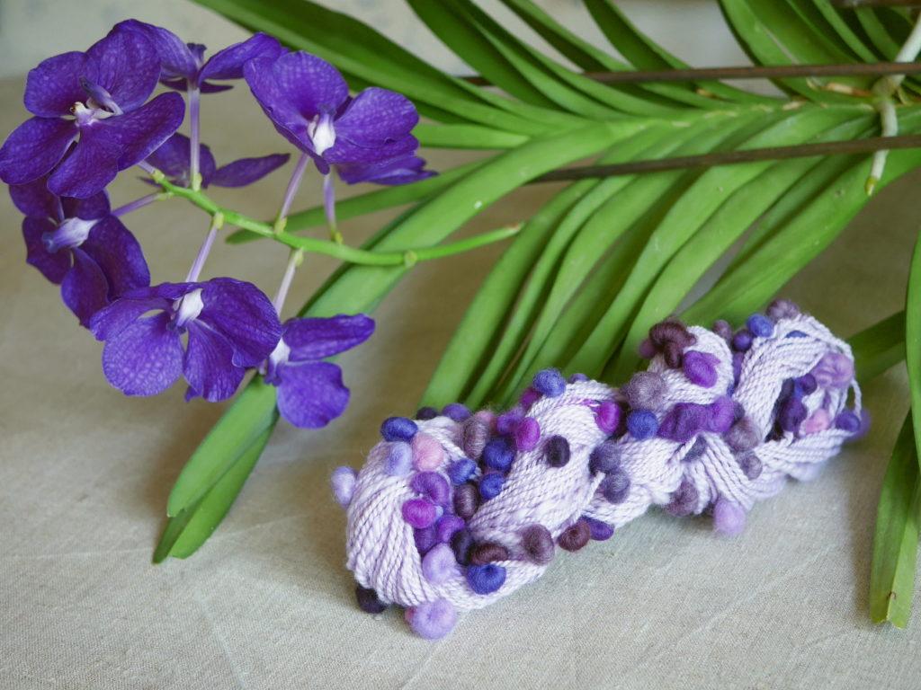 filage d'art violet orchidée vanda