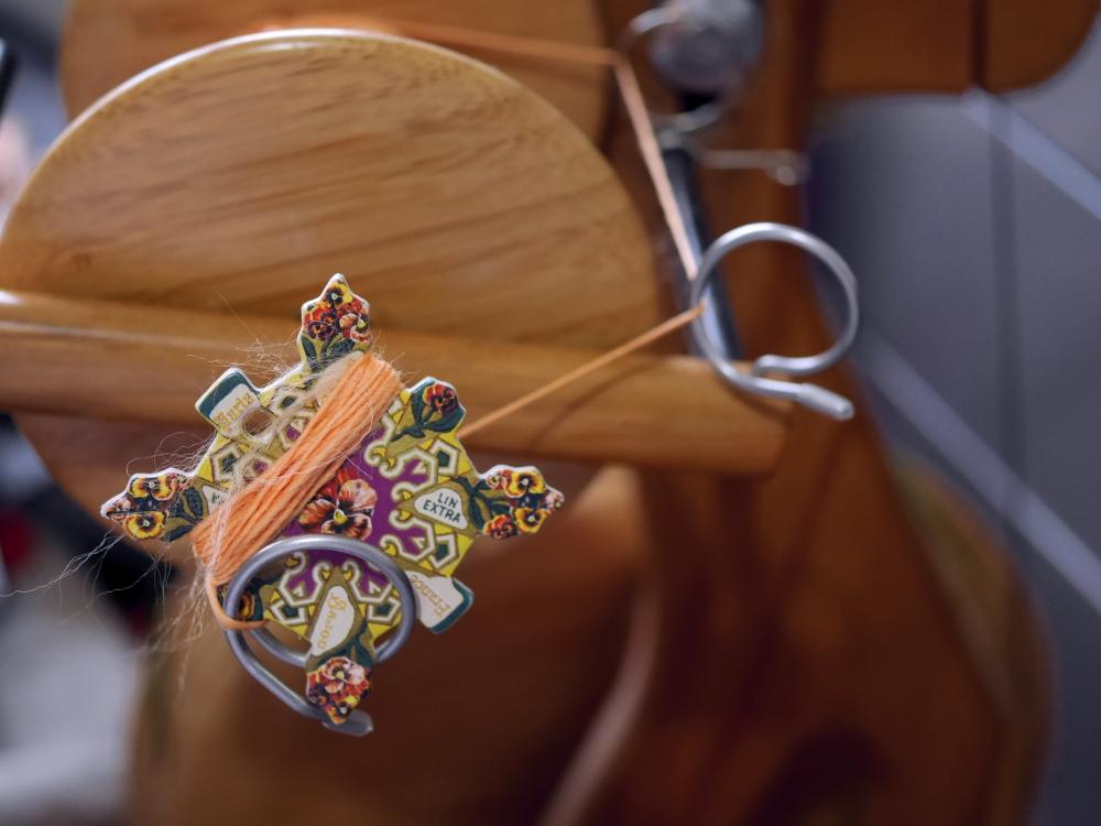 filage fantaisie au rouet