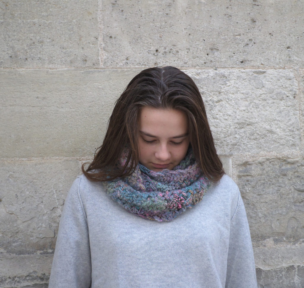 snood en fil artisanal