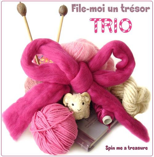 échange TRIO du forum Tricotin