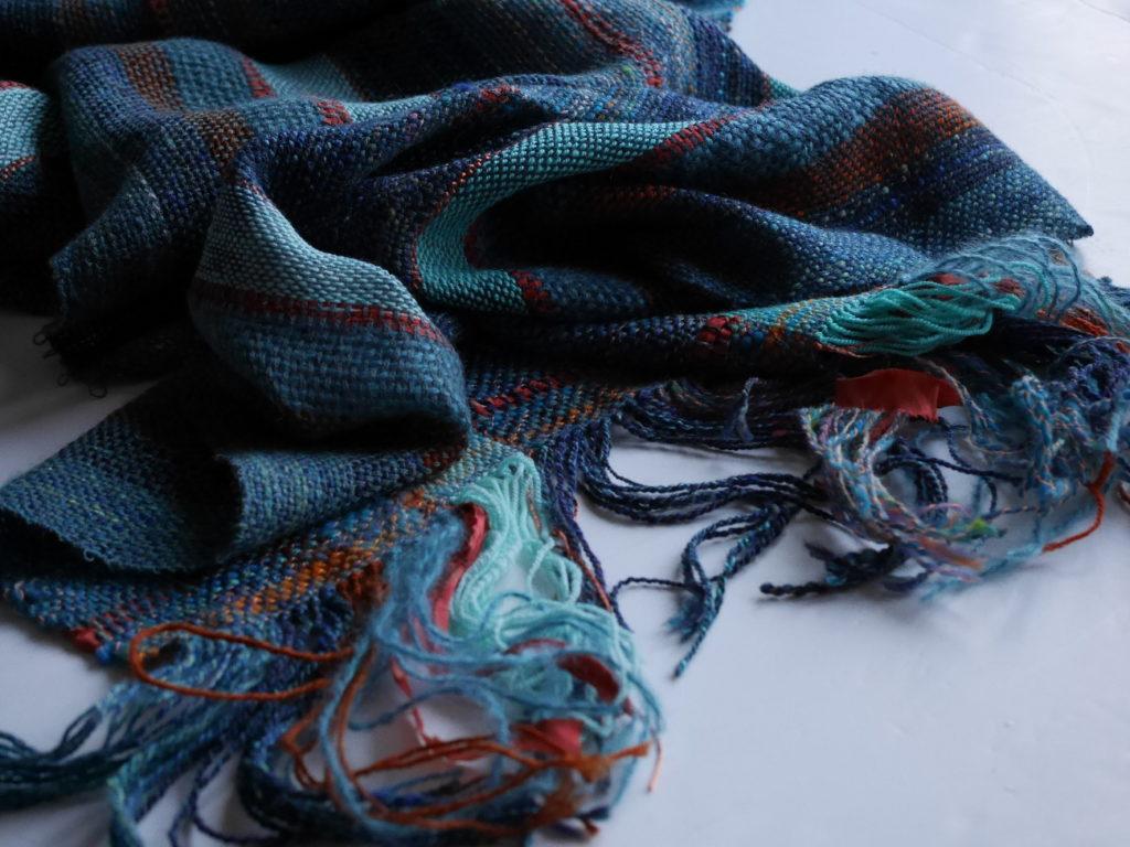 écharpes artisanales tissées main