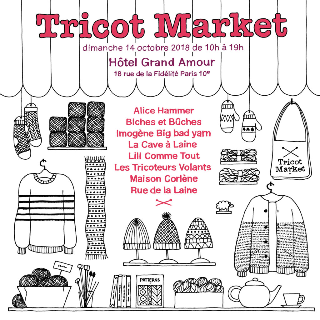tricot market paris 2018 hôtel grand amour tricoteurs volants