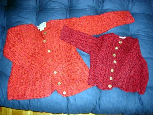 vestes tricot irlandais