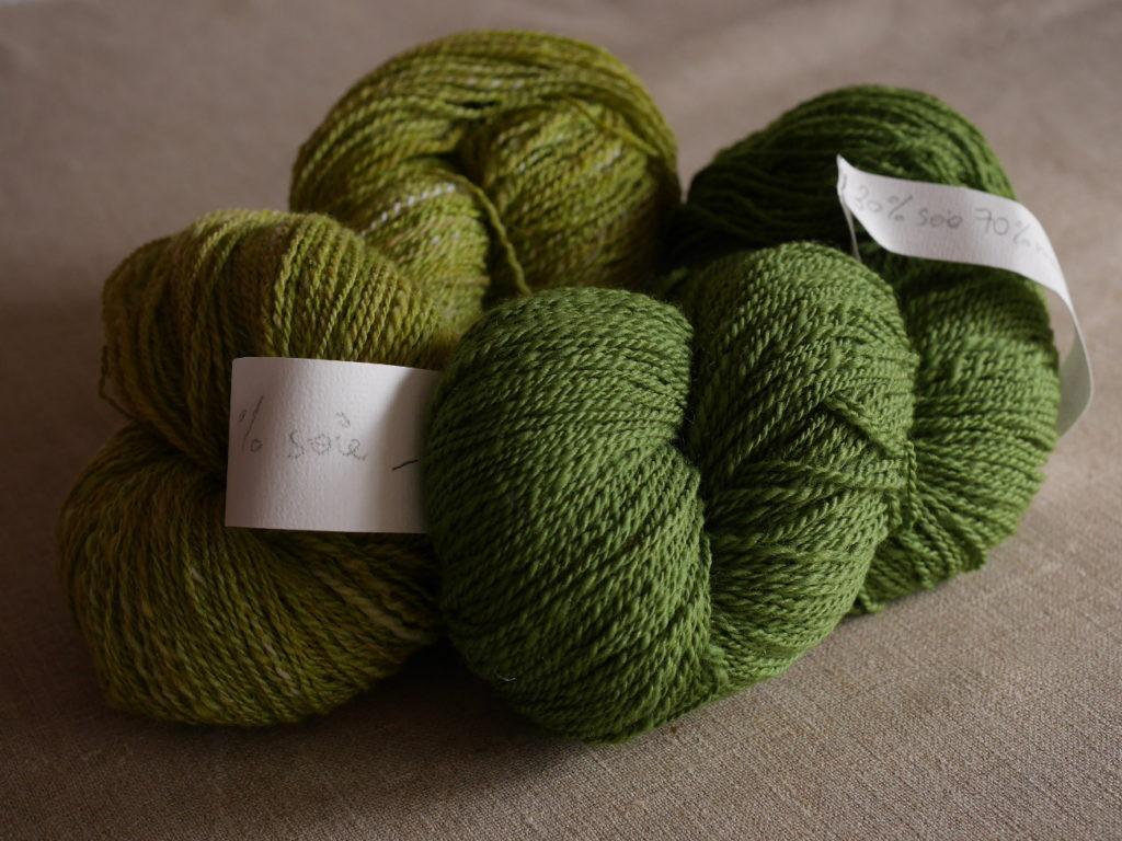 écheveaux fil artisanal laine mérinos et soie filés main