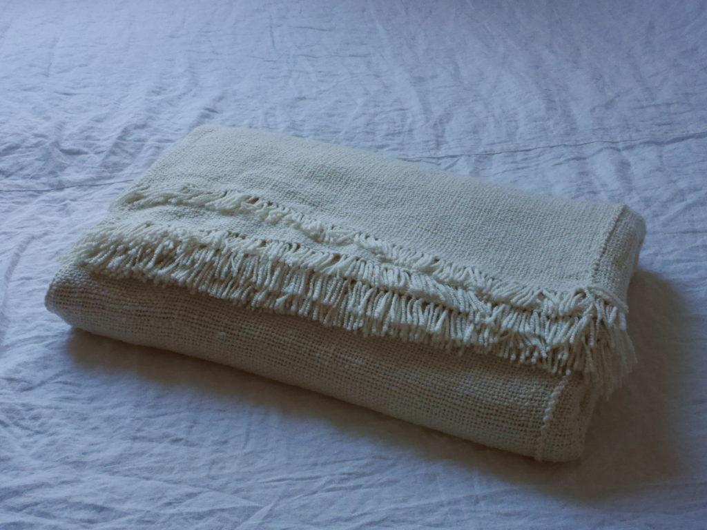 couverture tissée à la main fil filé au rouet