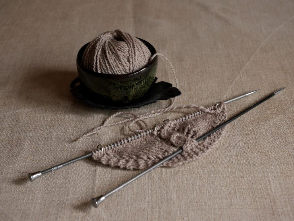 châle tricot filé main échantillon