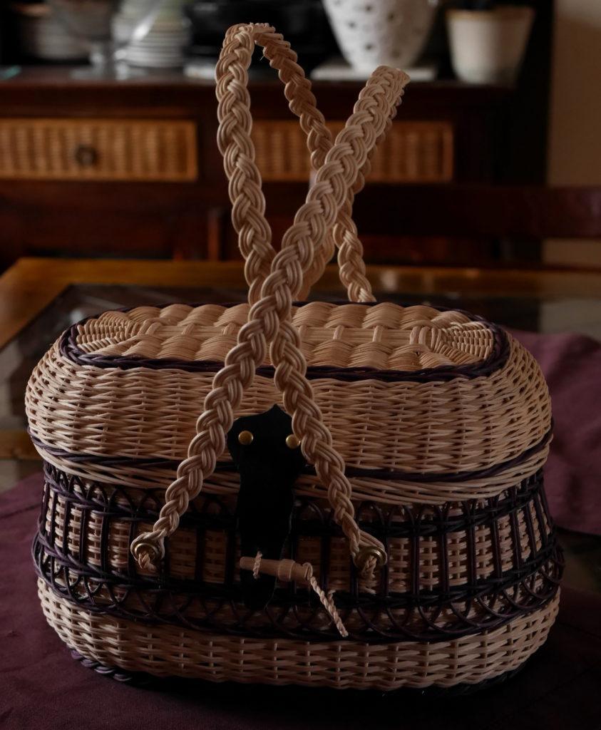 panier rustique vannerie artisanale saulaie