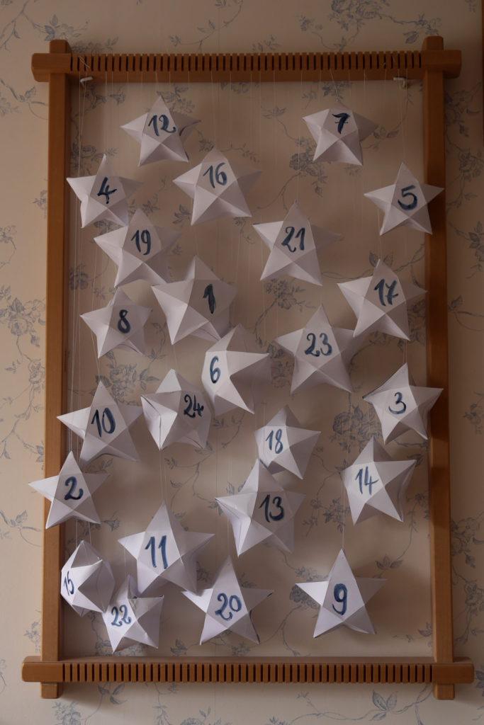 calendrier de l'avent octaédrier filage origami