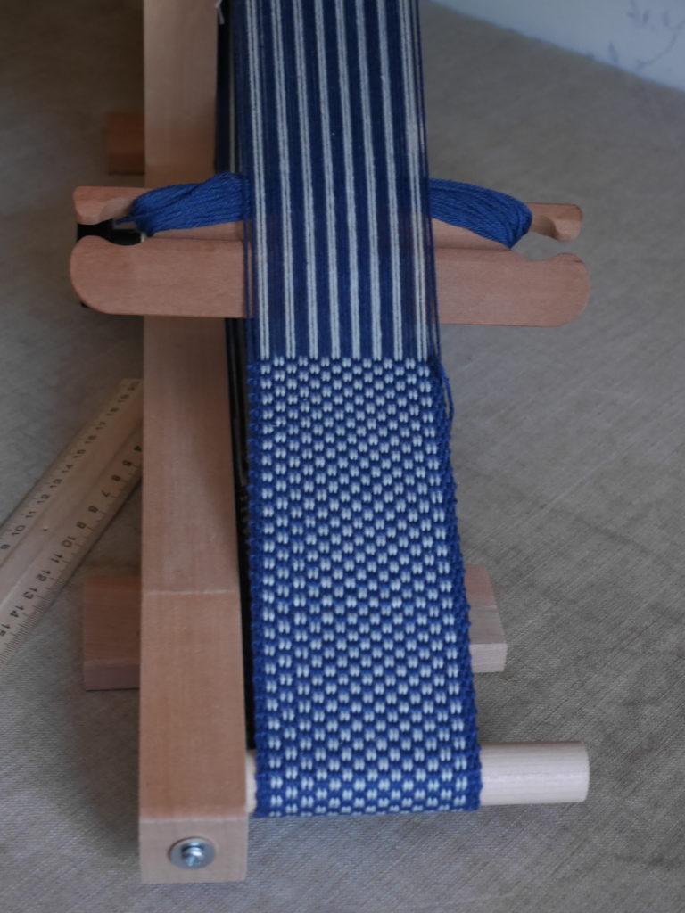 ceinture tissée sur inkle loom